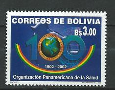 Bolivia 2002 The 100th Anniversary Of The Pan-American Health Organization.MNH