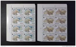 RUSSIA 1987 MNH (**)YVERT 5391-5392 Block Of 8 .fauna Polar Bears/.bloc De 8 .les Ours Blancs / WWF