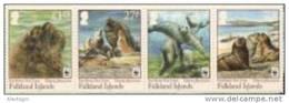 FALKLAND Is. 2011 - WWF Sea Lion - Mi 1143-6; CV = 10 €