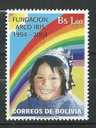 Bolivia 2004 The 10th Anniversary Of The ARCO IRIS Foundation, Street Children's Charitable Organization.MNH