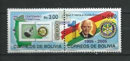 Bolivia 2005 The 100th Anniversary Of The Rotary International, Charitable Organization.MNH