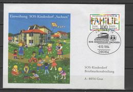 Germany 1994 Children Youth, SOS Children Village Cover To Austria