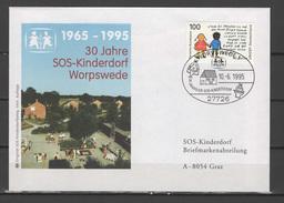 Germany 1995 Children Youth, SOS Children Village Cover To Austria