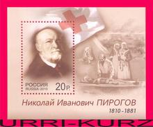 RUSSIA 2010 Famous People Medicine Scientist Doctor Surgeon Nikolay Pirogov Birth Bicentenary S-s Mi Bl.142(1691) MNH