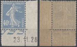 FRANCE SEMEUSE N°237 PETIT COIN DATÉ 1927/1931 NEUF ** LUXE MNH