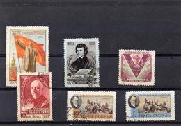 Russie 1956 -   YT 1778 1782 1784 1800 1801  Obl