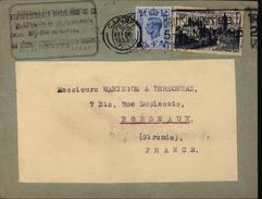 France Angleterre Mixte De Réexpédition Enveloppe Réutilisée Manque Papier YT F 905 GB YT 250 - Postmark Collection (Covers)
