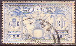 NEW HEBRIDES(French Inscr.) 1925 SG F48 50c(5d) Used - French Legend