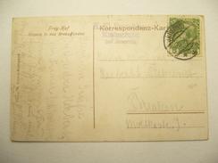 1909 , Postablage Krebsgrund , Stempel Auf Karte