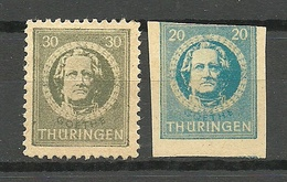 Deutschland Germany 1945/46 Soviet Zone Thüringen *