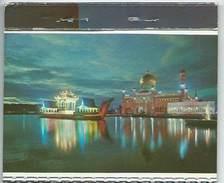 Carnet Brunei 10,1x8,3cm 8 Views Masjid Omar Ali Saifuddin Parliament House 1968 Royal Boat Radio Station Brunei Mosque - Brunei