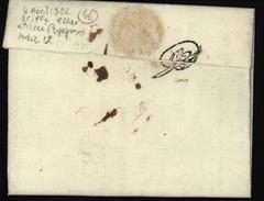 Lettre De Barcellonete (5) Basses Alpes Pour Perpignan Taxe Manuscrite 8 Du 4 Avril 1822 Griffe D'essai à L'arrivée I12 - Marcofilia (sobres)