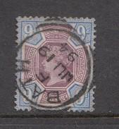 1887 Great Britain QV Jubilee Issue 9d Superb BATH Jul 19 94 CDS SON Cancel VF Used SG209