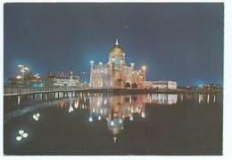Masjid Omar Ali Saifuddin Brunei Sw Singapore Postcard Issue D'un Carnet Night Time - Brunei