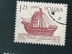 N° 1421 Le 'Holk', Bateau Marchand Du XVI Siècle   Timbre   Pologne Oblitéré/neuf   Polska 1965