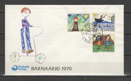 Foroyar 1979 IYC International Year Of The Child Set Of 3 On FDC