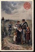 Guerre 14/18 Carte De Propagande Autriche Censure Taxe Suisse Femme Enfants Clairon Autriche 137