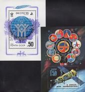 EXPO Globus 1985 Sowjetunion Block 164+180 ** 3€ Rakete SOJUS-T 1983 S/s Waps Blocs Space Sheets Bf USSR CCCP SU