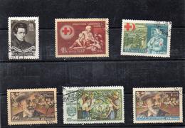Russie 1956 -  YT 1807 /09 Et 1812/14 Obl
