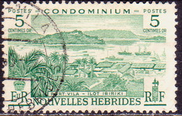 NEW HEBRIDES(French Inscr.) 1957 SG F96 5c Used - French Legend