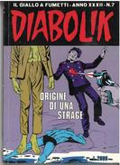 DIABOLIK ANNO XXXII N. 7 – 1 NOVEMBRE 1993 ORIGINE DI UNA STRAGE - Diabolik