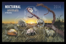 Namibia 2014 Mih. 1466/71 (Bl.84) Fauna. Night Animals MNH **