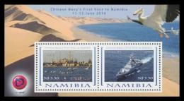 Namibia 2014 Mih. 1484/85 (Bl.86) First Visit Of Chinese War Ships In Namibia MNH **