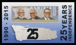 Namibia 2015 Mih. 1505 (Bl.88) Independence. Presidents Sam Nujoma, Hifikepunye Pohamba And Hage Geingob MNH **