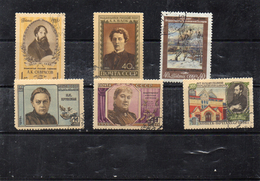 Russie 1956 -  YT 1815 1817 1820 1822 / 24 Obl