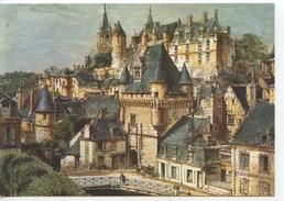 Anjou Et Touraine Du Temps Jadis : Le Château De Loches La Porte Des Cordliers (n°59 Greff Vierge) Gravure