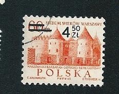 N° 1453 Varsovie Sous La Renaissance (0.60 Surchargé 4.50)    Timbre   Pologne Oblitéré   Polska 1965