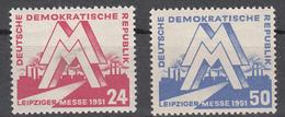 DDR (1951) Mi. 282/283 **