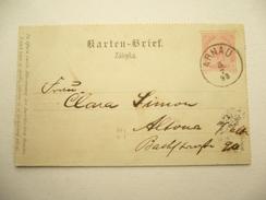 1893 , ARNAU , Klarer Stempel Auf Ganzsache