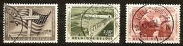 Belgie Belgique 1957  Yvertn° 1032-1034 (°) Oblitéré Used Cote 4,50 Euro Mémorial Général Patton