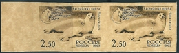 A1233 Russia 2003 Fauna Animal Marine Mammal Colour Proof Imperf Pair