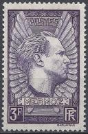 "FRANCE AVIATEUR JEAN MERMOZ HYDRAVION ""CROIX DU SUD"" N°338 1937 NEUF ** LUXE MNH"