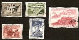 Belgie Belgique 1957  Yvertn° 1032-1036 (°) Oblitéré Used Cote 18 Euro Mémorial Général Patton
