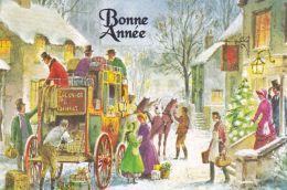 Nouvel An -Départ De La Diligence - Neujahr