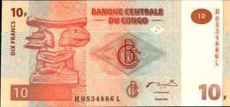 CONGO BANQUE CENTRALE 10 FRANCS Du 30-6-2003 Pick 87  UNC/NEUF - Kongo