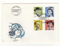 Enveloppe 1er Jour Oblitération 1200 GENEVE 05/09/1990