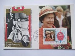 TUVALU - Vaitupu - 60th Birthday Of Queen Elizabeth - $5 Minisheet - Cover