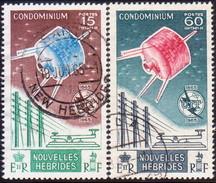 NEW HEBRIDES(French Inscr.) 1965 SG F126-27 Compl.set Used ITU Centenary CV £42 - Usati