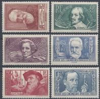 FRANCE CHÔMEURS INTELLECTUELS N°380/385 1938 NEUF ** LUXE MNH
