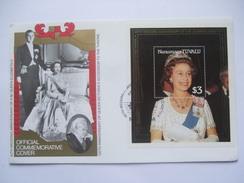 TUVALU - Nanumaga - 40th Wedding Anniversary Of Queen Elizabeth II - $3.00 Minisheet On Cover
