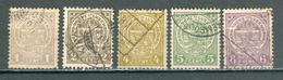 LUXEMBOURG ; 1907-19 ; Y&T N° 90 à 93 ; Oblitéré