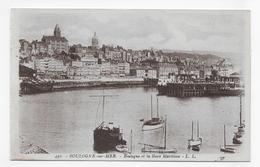 BOULOGNE SUR MER - N° 430 - BOULOGNE ET LA GARE MARITIME - CPA NON VOYAGEE - Boulogne Sur Mer