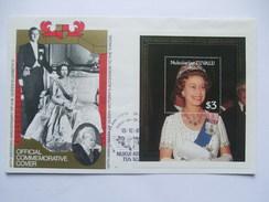 TUVALU - Nukulaelae - 40th Wedding Anniversary Of Queen Elizabeth II - $3.00 Minisheet On Cover