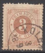 SUEDE 1872-85 1 TP Chiffre N° 16A Y&T Oblitéré - Suède
