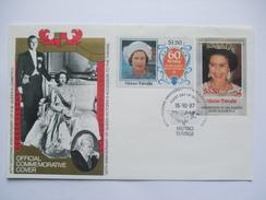 TUVALU - Niutao - 40th Wedding Anniversary Of Queen Elizabeth II - $1.50 And $3.50 On Cover