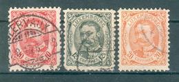 LUXEMBOURG ; 1906-15 ; Y&T N° 74-75-77 ; Oblitéré